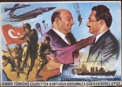 Bülent Ecevit (derecha) era primer ministro en 1974, el año en que las tropas turcas desembarcaron en Chipre.