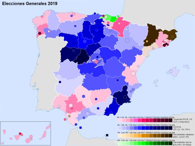 Spain 2019 blocs
